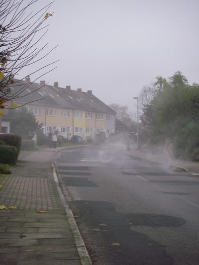 Nebel ganze Straße